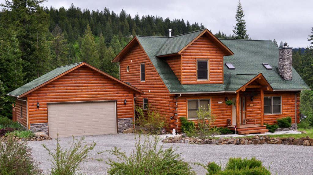 Completed log home project, northern Minnesota, Dryco Restoration Services