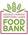 Second Harvest Northern Lakes Food Bank logo green and red